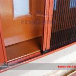 Cửa lưới chống muỗi dạng xếp màu vân gỗ